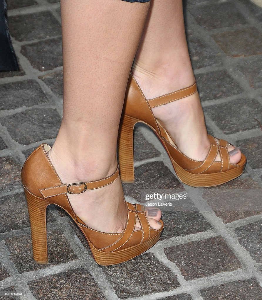 Shoes worn by Lauren Conrad at the launch of her new national milk mustache 'Got Milk?' campaign photo at The Whisper Lounge on June 15, 2010 in Los Angeles, California.
