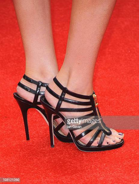 Shoes worn by Linzi Stoppard at the UK Film Premiere of 'The ATeam' at Empire Leicester Square on July 27 2010 in London England