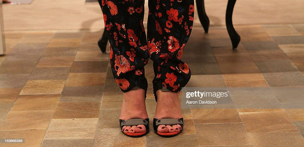 Shoes worn by Stacy London while greets fans and signs copies of her book 'The Truth About Style' at Neiman Marcus on October 8, 2012 in Miami Beach, Florida.