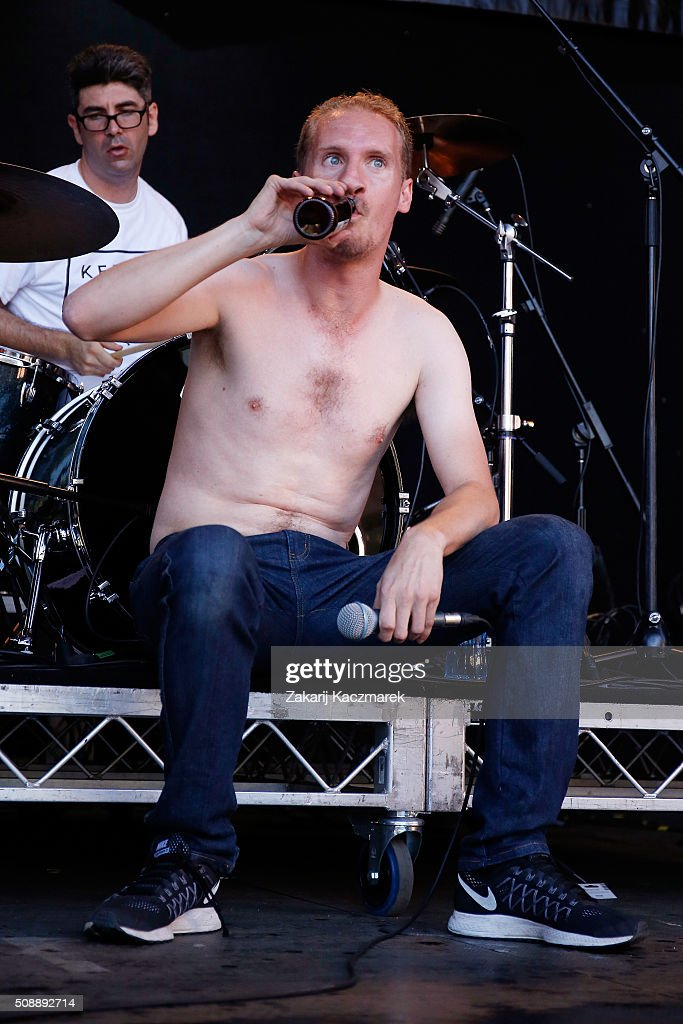 Shogun of Royal Headache performs live on stage at St Jerome's Laneway Festival on February 7, 2016 in Sydney, Australia.