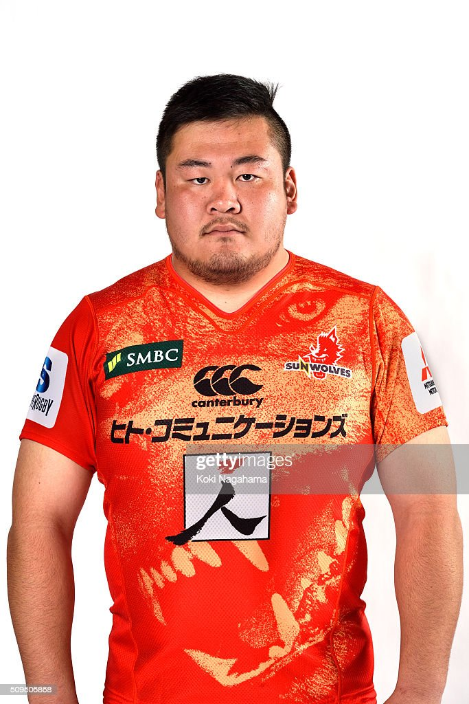 Shohei Hirano poses during the Sunwolves 2016 Super Rugby headshots session on February 11, 2016 in Tokyo, Japan.
