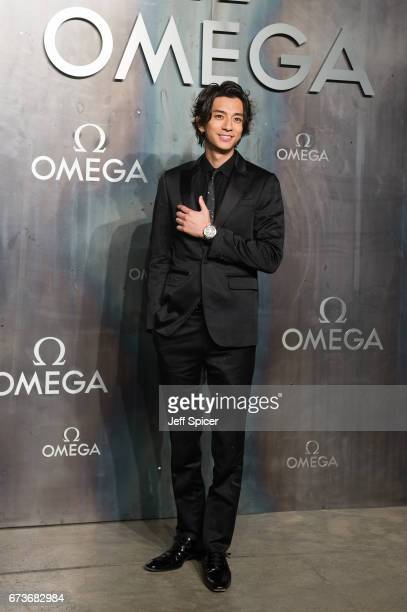 Shohei Miura attends the Lost In Space event to celebrate the 60th anniversary of the OMEGA Speedmaster which has been worn by every piloted NASA...