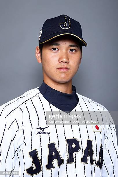 Shohei Ohtani of Japan poses for a portrait prior to the WBSC Premier 12 on November 2 2015 in Fukuoka Japan