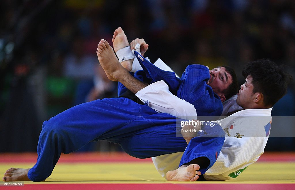 Shohei Ono of Japan competes against Victor Scvortov of United Arab Emirates in the Men's 73 kg Judo elimination round on Day 3 of the Rio 2016...