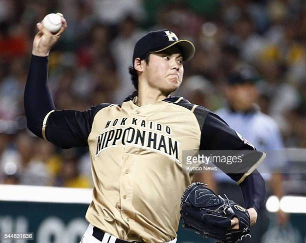 Shohei Otani strikes out 10 in eight innings as the Nippon Ham Fighters completed a threegame sweep of the SoftBank Hawks with a 20 win at Yafuoku...