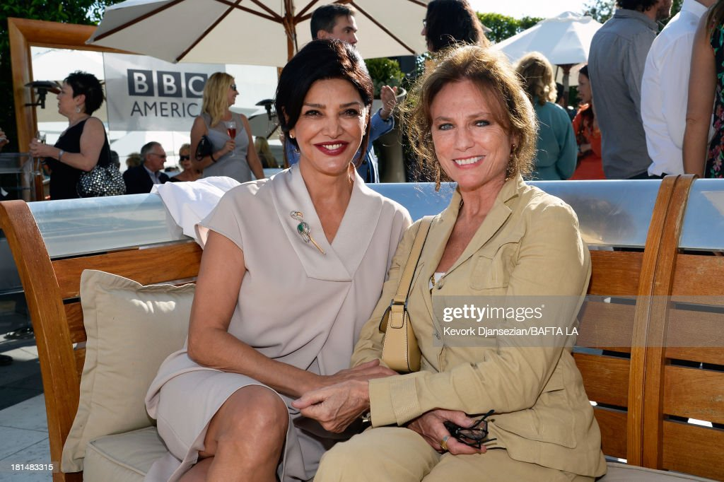 <a gi-track='captionPersonalityLinkClicked' href=/galleries/search?phrase=Shohreh+Aghdashloo&family=editorial&specificpeople=210536 ng-click='$event.stopPropagation()'>Shohreh Aghdashloo</a> and <a gi-track='captionPersonalityLinkClicked' href=/galleries/search?phrase=Jacqueline+Bisset&family=editorial&specificpeople=204696 ng-click='$event.stopPropagation()'>Jacqueline Bisset</a> attend the BAFTA LA TV Tea 2013 presented by BBC America and Audi held at the SLS Hotel on September 21, 2013 in Beverly Hills, California.