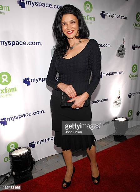 Shohreh Aghdashloo during MySpace Presents Rock for Darfur Party Benefiting Oxfam America at Private Estate in Beverly Hills California United States