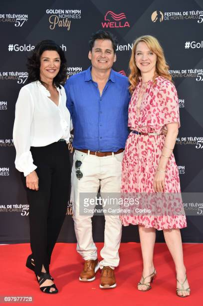 Shohreh Aghdashloo Peter M Lenkov and Odile Vuillemin attends the Golden Nymph Nominees Party at the MonteCarlo Bay Hotel on June 19 2017 in...