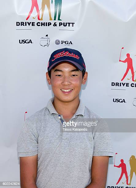 Shoichiro Kato second place overall winner in the boys 1415 at the Drive Chip and Putt Regional Qualifier at Southern Hills Country Club on September...