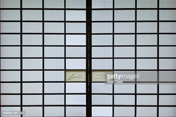 Shoji screen and door, close-up