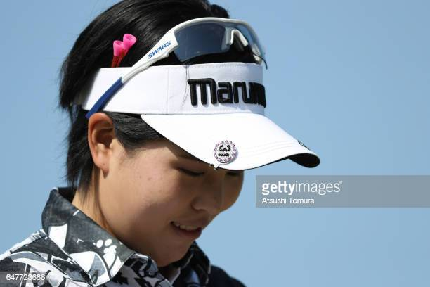 Shoko Sasaki of Japan looks on during the third round of the Daikin Orchid Ladies Golf Tournament at the Ryukyu Golf Club on March 4 2017 in Nanjo...