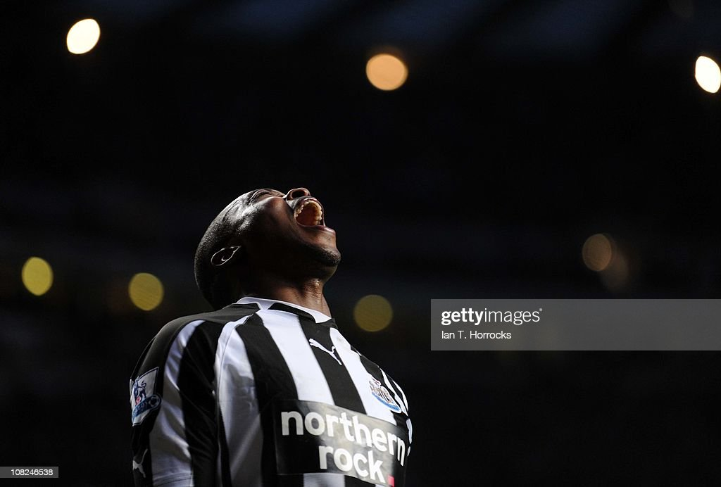 Shola Ameobi of Newcastle United during the Barclays Premier league match between Newcastle United and Tottenham Hotspur at St James' Park on January 22, 2011 in Newcastle upon Tyne, United Kingdom.