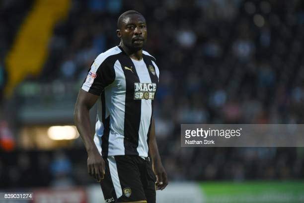 Shola Ameobi of Notts County looks on during the Sky Bet League Two match between Notts County and Accrington Stanley at Meadow Lane on August 25...