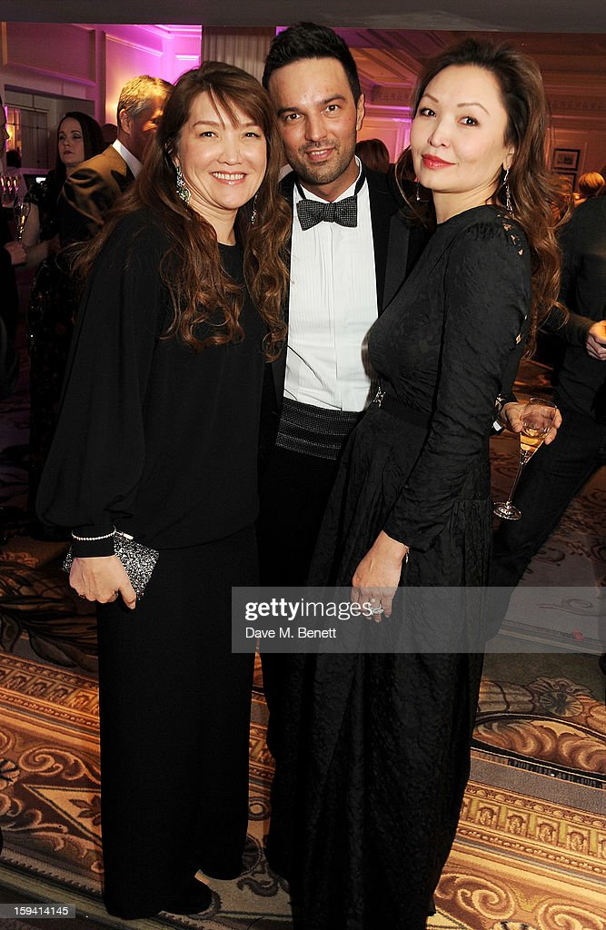 Sholpan Boranbayeva, Mikhail Tabakov and Mira Anafina attend a gala evening celebrating Old Russian New Year's Eve in aid of the Gift Of Life Foundation at The Savoy Hotel on January 13, 2013 in London, England.
