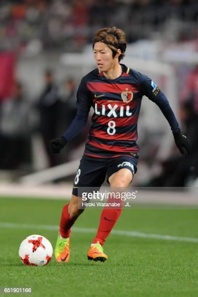 Shoma Doi of Kashima Antlers in action during the JLeague J1 match between Kashima Antlers and Yokohama FMarinos at Kashima Soccer Stadium on March...