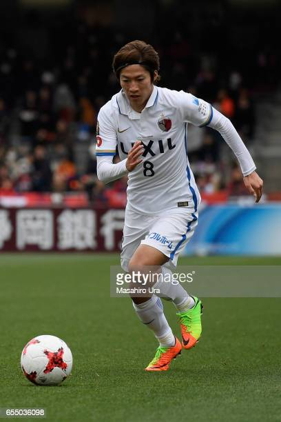 Shoma Doi of Kashima Antlers in action during the JLeague J1 match between Shimizu SPulse and Kashima Antlers at IAI Stadium Nihondaira on March 18...