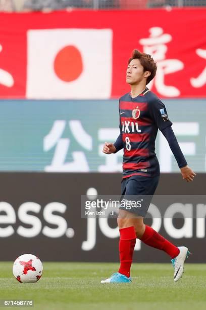 Shoma Doi of Kashima Antlers in action during the JLeague J1 match between Kashima Antlers and Jubilo Iwata at Kashima Soccer Stadium on April 22...