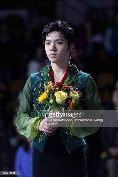 Shoma Uno of Japan comes second in the mens free skate on October 24 2015 in Milwaukee Wisconsin