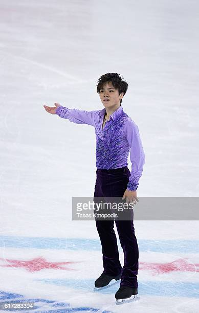 Shoma Uno of Japan competes in the men short program at 2016 Progressive Skate America at Sears Centre Arena on October 22 2016 in Chicago Illinois