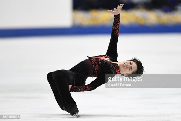 Shoma Uno of Japan competes in the Men's Singles Free Skating during the Japan Figure Skating Championships 2016 on December 24 2016 in Kadoma Japan
