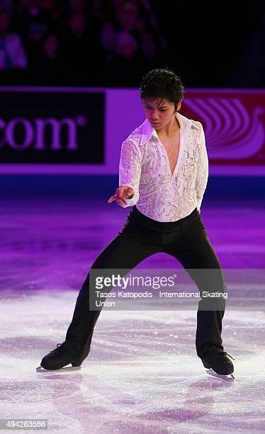 Shoma Uno of Japan in the Smucker's Skating Spectacular on October 25 2015 in Milwaukee Wisconsin