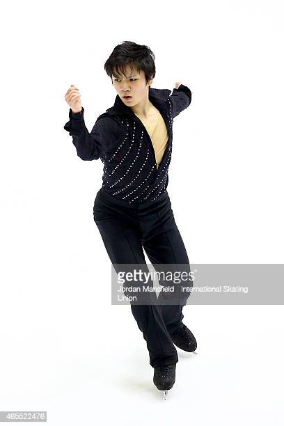Shoma Uno of Japan performs during the Men's Free Skating on Day 4 of the ISU World Junior Figure Skating Championships at Tondiraba Ice Arena on...