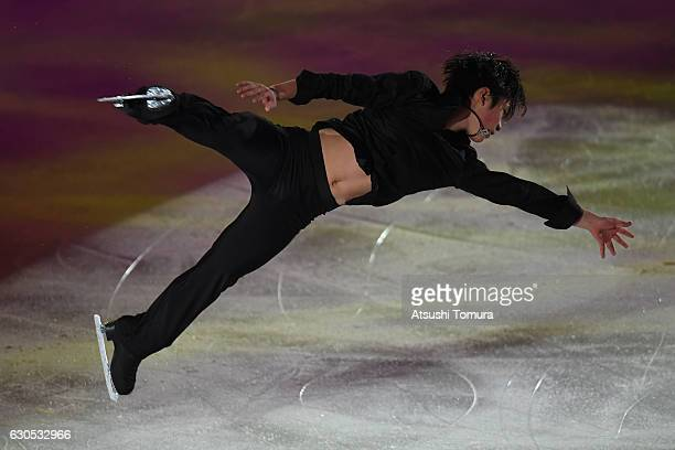 Shoma Uno of Japan performs his routine in the exhibition during the Japan Figure Skating Championships 2016 on December 26 2016 in Kadoma Japan