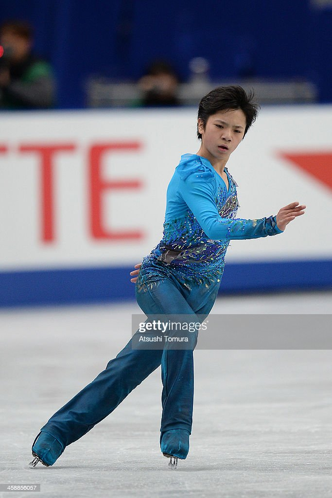Shoma Uno of Japan performs in the men's free skating during All Japan Figure Skating Championships at Saitama Super Arena on December 22, 2013 in Saitama, Japan.