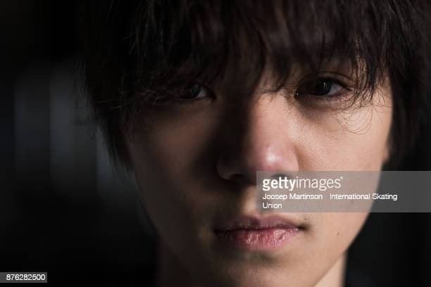 Shoma Uno of Japan poses for a portrait during day three of the ISU Grand Prix of Figure Skating at Polesud Ice Skating Rink on November 19 2017 in...