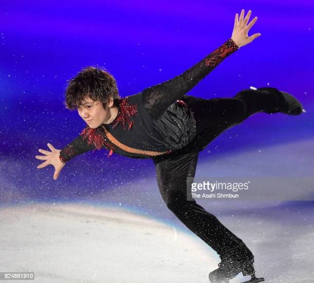 Shoma Uno performs during the figure skating show 'The Ice' at Osaka City Central Gymnasium on July 29 2017 in Osaka Japan