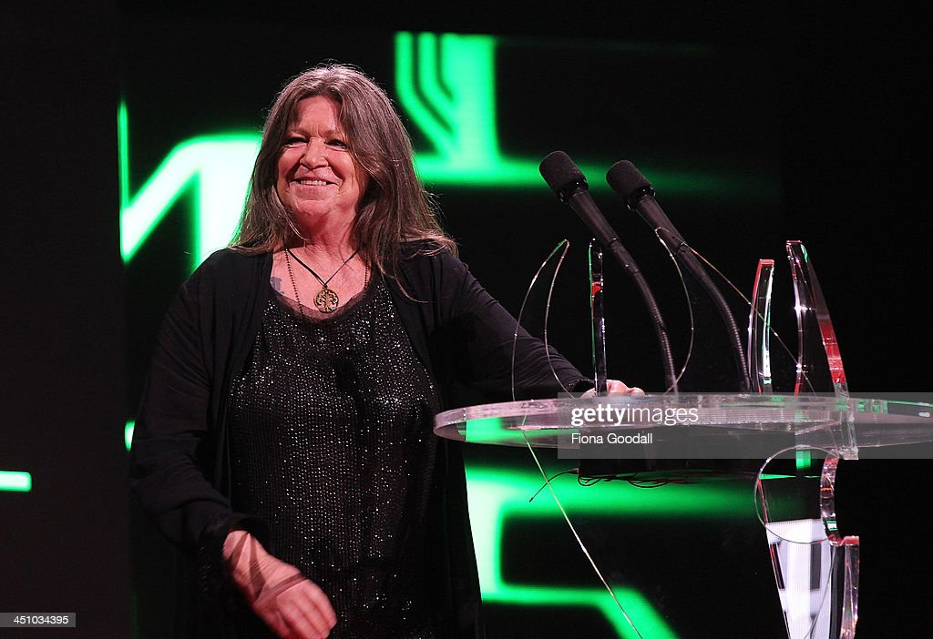 Shona Laing is presented the NZ Herald Legacy Award during the New Zealand Music Awards at Vector Arena on November 21, 2013 in Auckland, New Zealand.