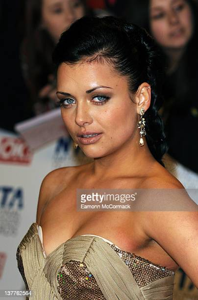 Shona McGarty arrives at National Television Awards at O2 Arena on January 25 2012 in London England
