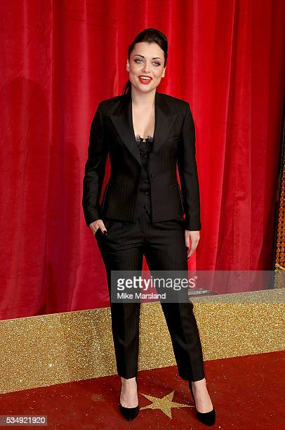 Shona McGarty attends the British Soap Awards 2016 at Hackney Empire on May 28 2016 in London England