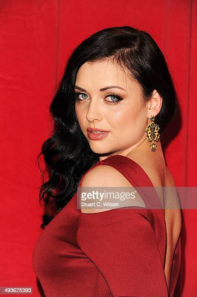 Shona McGarty attends the British Soap Awards at Hackney Empire on May 24 2014 in London England