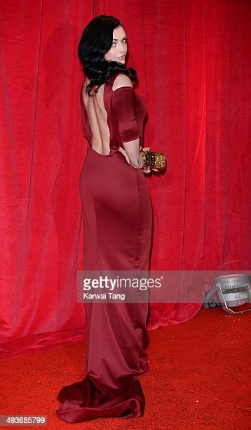Shona McGarty attends the British Soap Awards held at the Hackney Empire on May 24 2014 in London England
