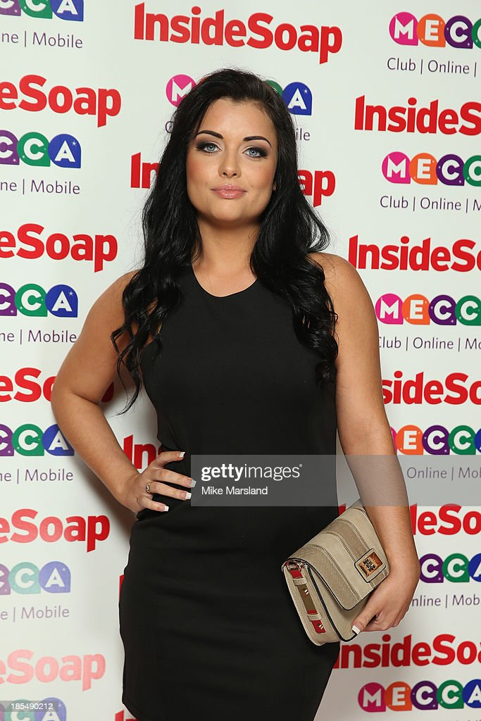 Shona McGarty attends The Inside Soap Awards at The Ministry of Sound on October 21, 2013 in London, England.