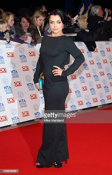 Shona McGarty attends the National Television Awards at 02 Arena on January 23 2013 in London England