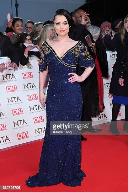Shona McGarty attends the National Television Awards at The O2 Arena on January 25 2017 in London England