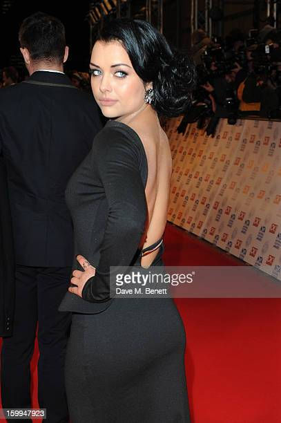 Shona McGarty attends the the National Television Awards at 02 Arena on January 23 2013 in London England