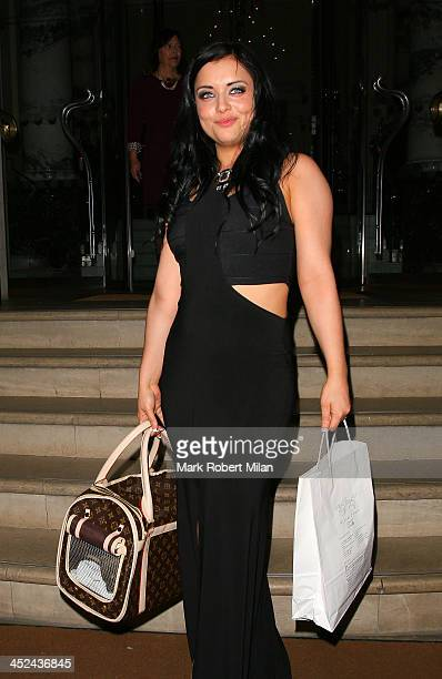 Shona McGarty leaving The Langham Hotel on November 28 2013 in London England