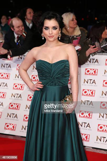 Shona McGarty of 'EastEnders' attends the National Television Awards at 02 Arena on January 21 2015 in London England