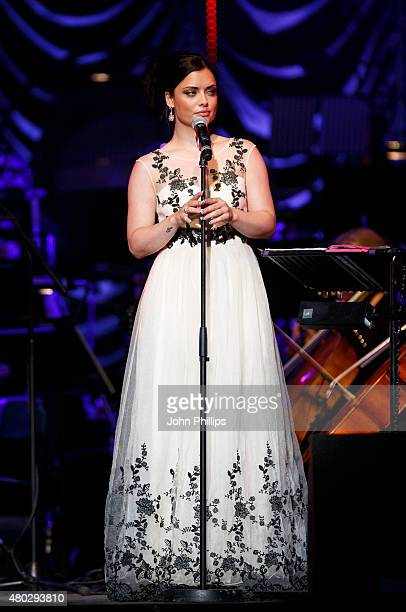 Shona McGarty performs on Day 3 of The Henley Festival on July 10 2015 in HenleyonThames England