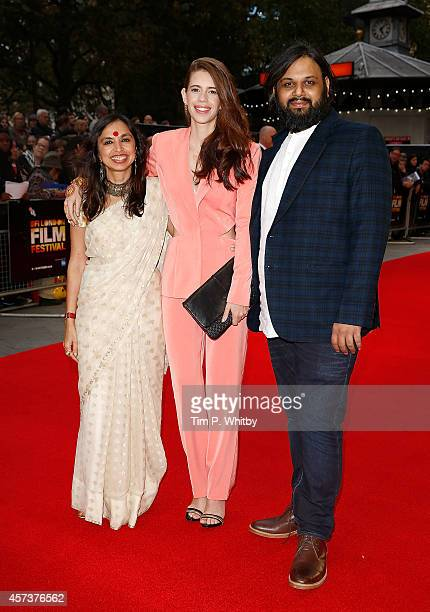 Shonali Bose Kalki Koechlin and Nilesh Maniyar attend the red carpet arrivals of 'Margarita With A Straw' during the 58th BFI London Film Festival at...