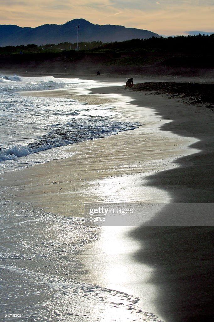 Shonan Beach at Dusk