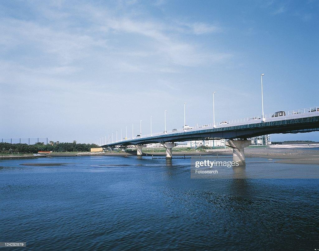 Shonan Bridge, Shonan, Kanagawa Prefecture, Japan, Low Angle View, Pan Focus