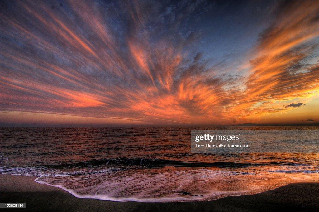 Shonan sunset : Stock Photo
