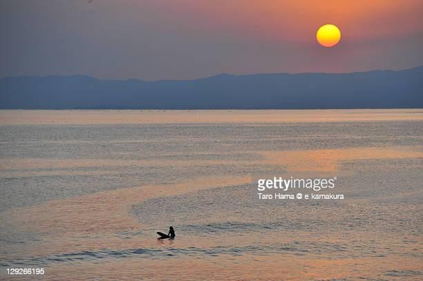 Shonan sunset surfer