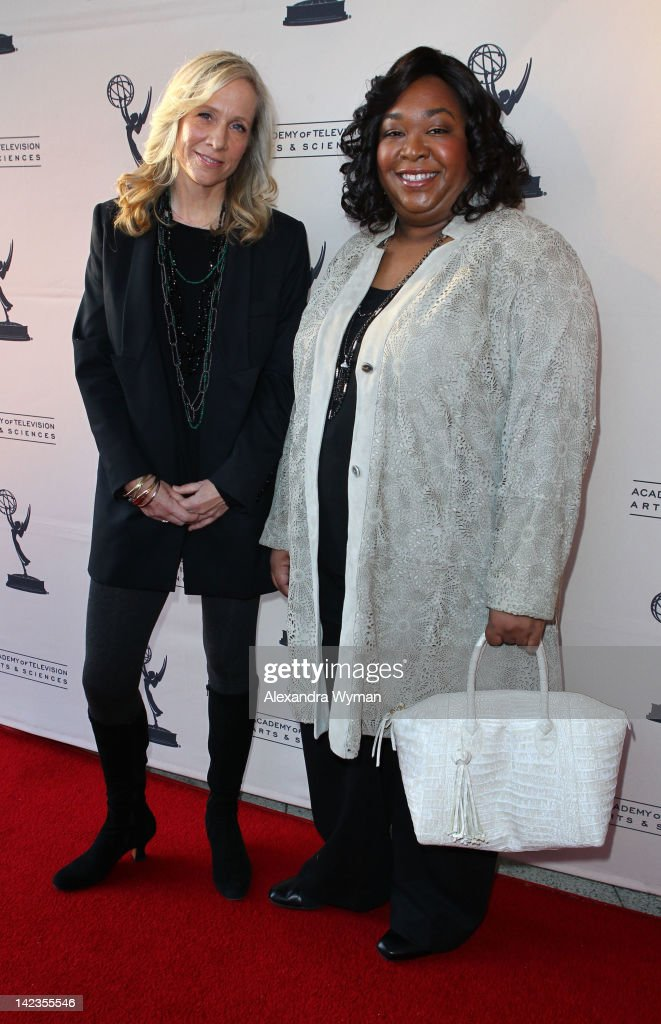 <a gi-track='captionPersonalityLinkClicked' href=/galleries/search?phrase=Shonda+Rhimes&family=editorial&specificpeople=572007 ng-click='$event.stopPropagation()'>Shonda Rhimes</a> and <a gi-track='captionPersonalityLinkClicked' href=/galleries/search?phrase=Betsy+Beers&family=editorial&specificpeople=799691 ng-click='$event.stopPropagation()'>Betsy Beers</a> at The Academy Of Television Arts & Sciences 'Welcome To ShondaLand: An Evening With <a gi-track='captionPersonalityLinkClicked' href=/galleries/search?phrase=Shonda+Rhimes&family=editorial&specificpeople=572007 ng-click='$event.stopPropagation()'>Shonda Rhimes</a> & Friends' held at The Leonard H. Goldenson Theatre on April 2, 2012 in North Hollywood, California.