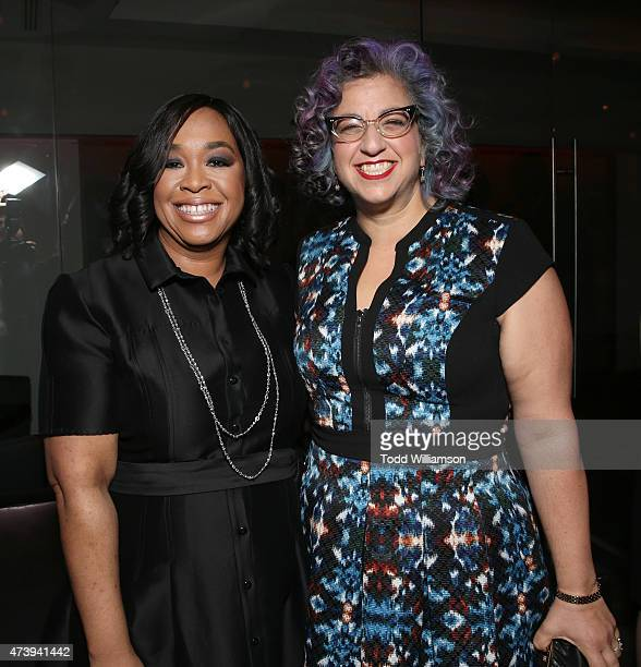 Shonda Rhimes and Jenji Kohan attend the 10th Annual Global Women's Rights Awards at Pacific Design Center on May 18 2015 in West Hollywood California