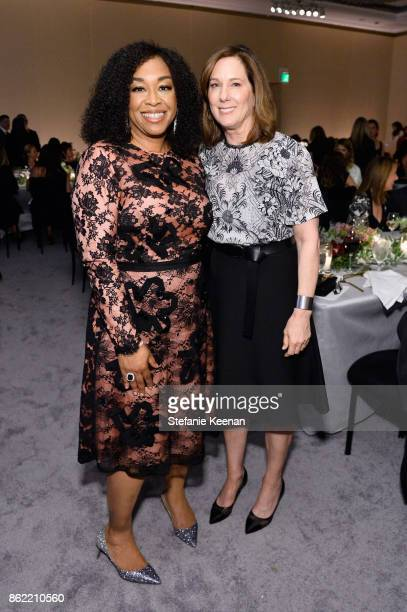 Shonda Rhimes and Kathleen Kennedy attend ELLE's 24th Annual Women in Hollywood Celebration presented by L'Oreal Paris Real Is Rare Real Is A Diamond...